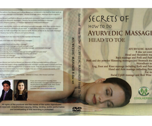 Ayurvedic Hand and Arm Massage DVD and the accompanying book ''Secrets of How to do Ayurvedic Massages - Head to Toe''. All You Need To Know.