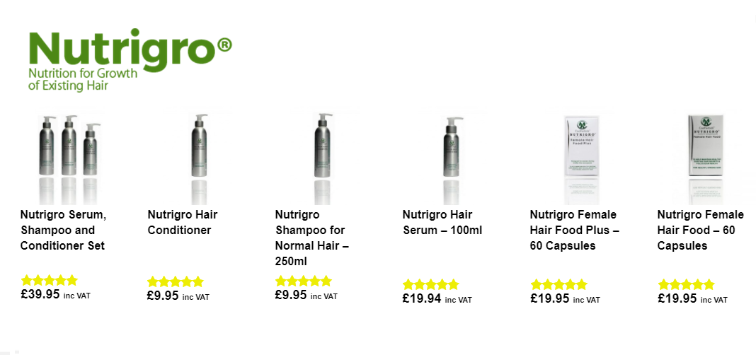 Do Nutrigro natural hair loss products make your hair look thicker
