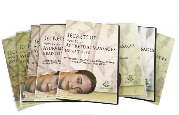 This set includes all 8 DVDs and the accompanying book ''Secrets of How to do Ayurvedic Massages