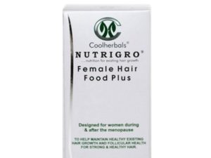 The Nutrigro Female Hair Food Plus Capsules help maintain healthy existing hair growth & follicular health for women over 35 years of age.