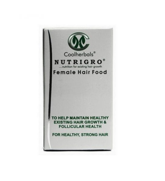 Nutrigro Female Hair Food - 60 Capsules.Food To The Hair And Scalp