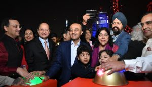Diwali Lights being switch on